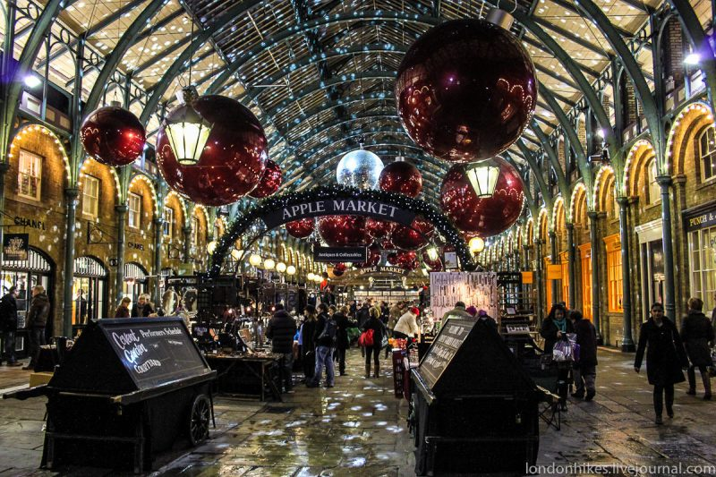 Christmas on Covent Garden, Лондон, Великобритания